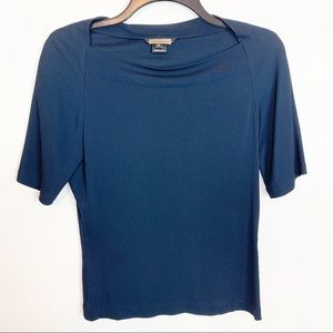 ROZAE NICHOLS AOFT TEE WITH BUTTONS ON HEM SIZE 6